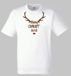 Merry Christmas Shirt, Rudolph th Reindeer, Men's Shirt, Women's Shirt, Christmas Gift, Santa Claus