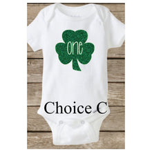 Baby's First St Patrick's Day, Shamrock Onesie, First Birthday ONE