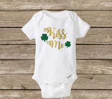 St Patrick's Day Baby Onesie, Kiss Me, Holiday