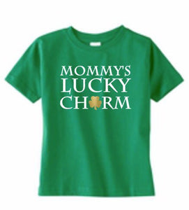 Lucky Charm St Patricks Day, Mommy's Lucky Charm, Daddy's Lucky Charm, Shamrock Clover, Toddler Shirt