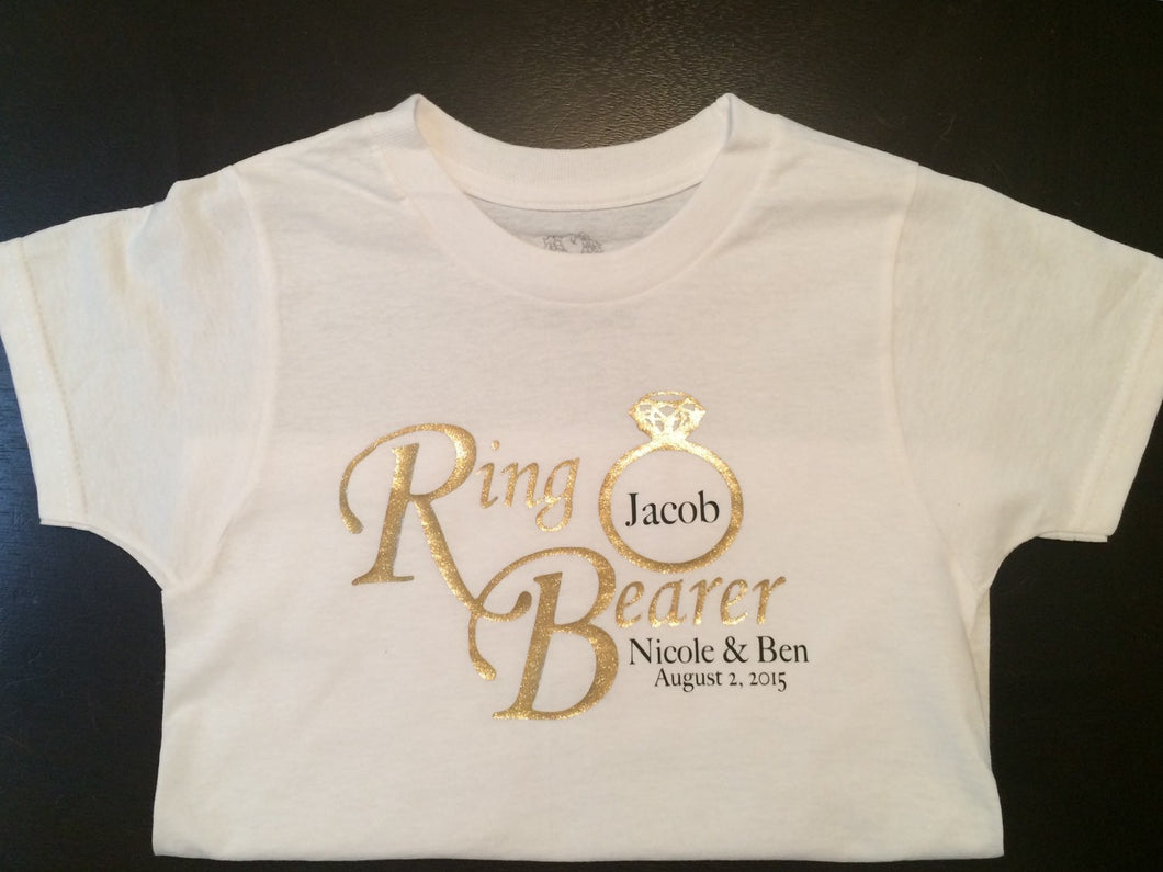 Ring Bearer Shirt, Boys Shirt, Baby Onesie, Wedding Party Shirt, Personalized