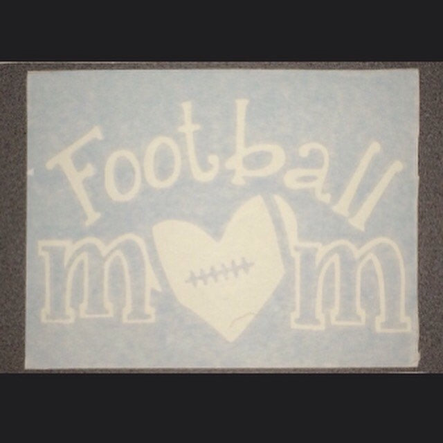 Football Mom Sticker Decal, Sports Vinyl Sticker Decal for Car, I Love Football Sticker