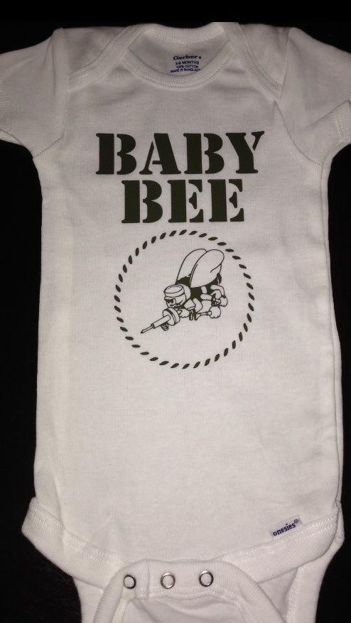 Baby Bee SeaBee Baby Onesie, Navy US Naval Construction Battalions, United States of America