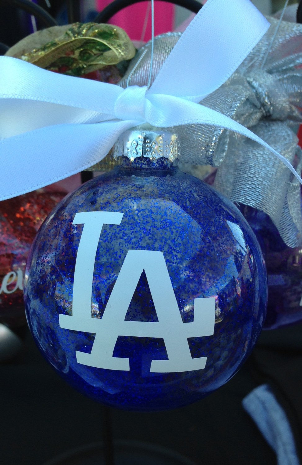 LA Dodgers Christmas ORNAMENT, Baseball Los Doyers