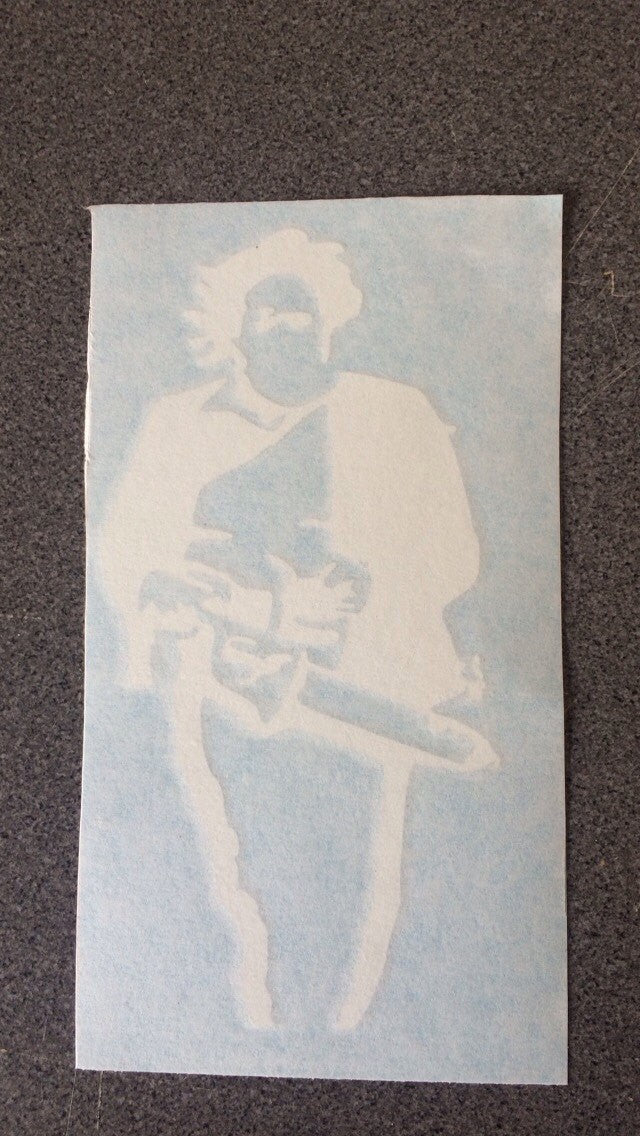 Texas Chainsaw Massacre STICKER DECAL / Halloween Horror Leather Face Movie/ Vinyl Car Sticker Decal