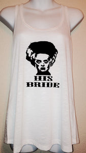 His BRIDE Frankenstein HALLOWEEN Shirt | Costume Trick OR Treat Tank Top | Women's Shirt Couples Shirts