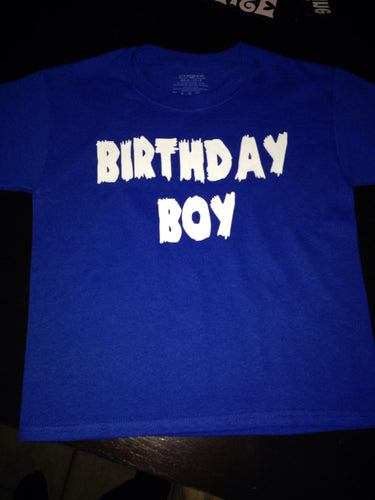 BIRTHDAY Shirt, Kids Shirt, Boy Or Girl Birthday Shirt Name and Age, Celebration Happy Birthday