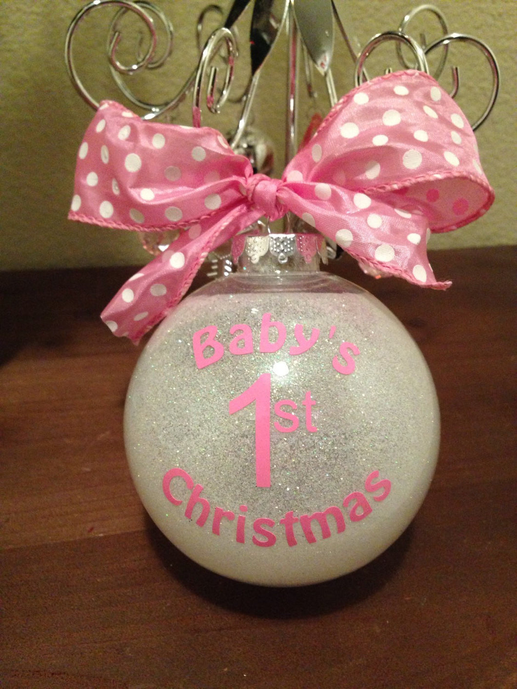 baby girls first christmas ornament bulb