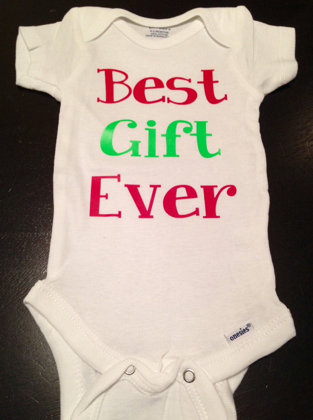 Christmas Baby Best Gift Ever Onesie, Baby Girl Baby Boy First Merry  Christmas
