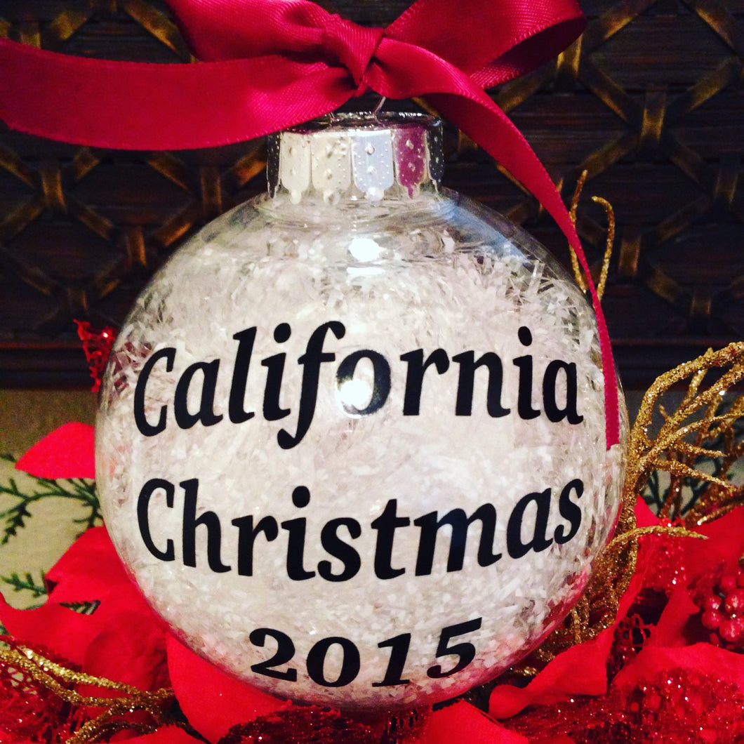CHRISTMAS ORNAMENT California Christmas 2017, Merry Christmas Christmas Tree Decor