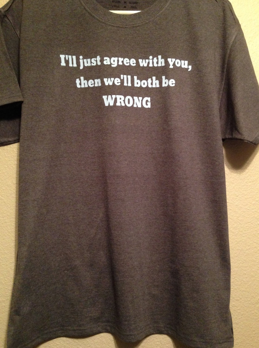 I'll Just Agree With You Then We'll Both Be Wrong | Shirt Tshirt Funny Comical Fun Mens Shirt