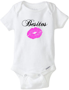 Baby Girl Onesie Besitos, Kisses Besos, Spanish Baby