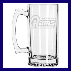 RAMS Beer Mug | Los Angeles Rams LA | St Louis Rams Football | Etched Beer Mug