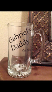 Father's Day Beer Mug | New Daddy Mug | Custom Pilsner | Beer Pint | New Baby | Custom Drinkware