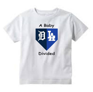 Baseball Onesie Home Plate, Baby Divided Onesie, House Divided, 2 Teams