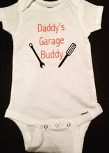 Daddy's Garage Buddy Onesie, Father's Day Onesie