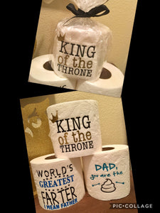 Funny Father's Day Toilet Paper Gift Decor, Holiday