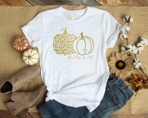 Hello Fall Women's Pumpkin Shirt
