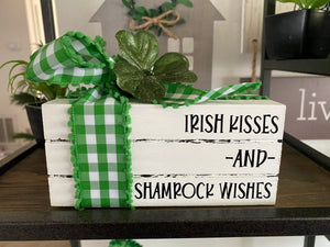 Faux Book Stack Home Decor St Patrick's Day