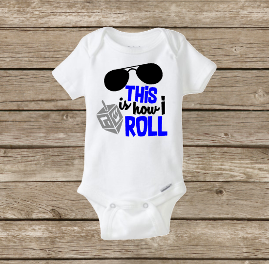 This Is How I Roll, Baby Holiday Hanukkah Onesie