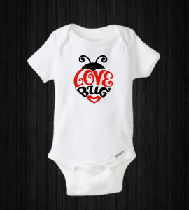 Baby Valentine's Day Onesie Love Lady Bug Holiday