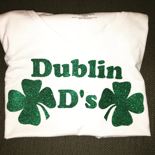Dublin D's St Patricks Day Shirt Shamrocks