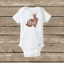 First Easter Birthday ONE, Bunny Rabbit Baby Onesie