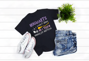 Harry Potter Hogwarts and Muggles Teacher Shirt