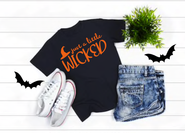 Just a Little Wicked Women's Halloween Shirt