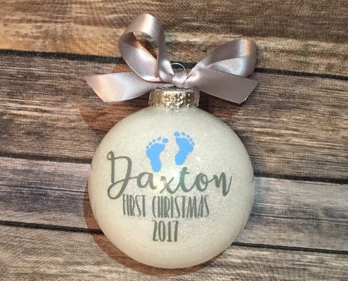 Baby's First Christmas, Personalized Ornament Bulb