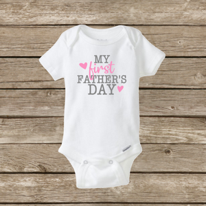 My First Father/'s Day Onesie