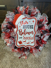 This House Believes in Santa Handmade Christmas Wreath
