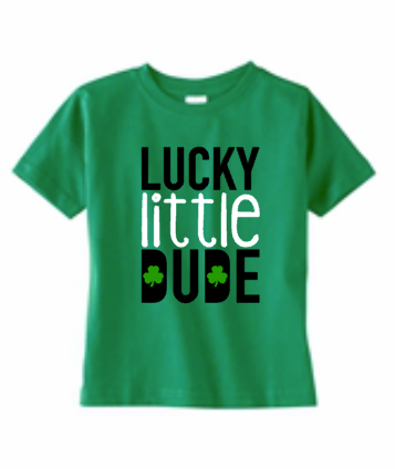 Lucky Little Dude St Patricks Day Holiday Boy Shirt