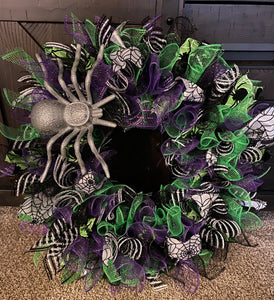 Halloween Wreath Frankenstein Inspired