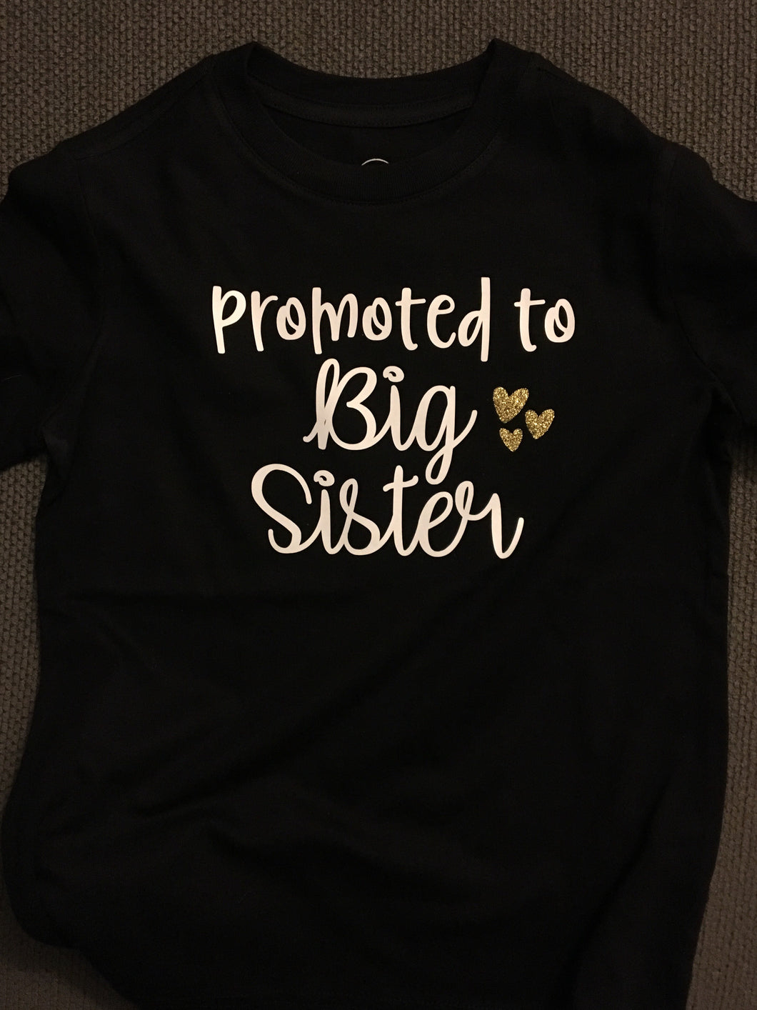Promoted to Big Sister, Girl Shirt, Pregnancy Announcement