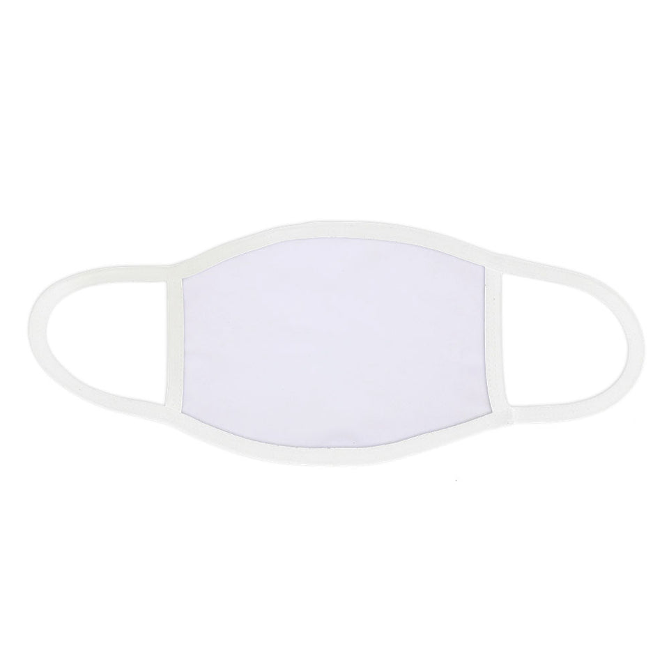Sublimation Dust Protector Blank Face Mask- White Edge With Filter - 3 Size