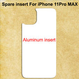 White Aluminum Spare Inserts for Sublimation Cases Compatible with iPhone - All Models