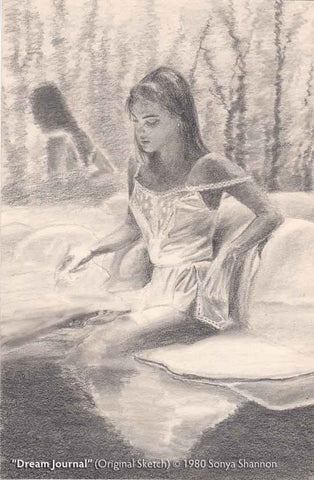 Dream Journal - original pencil sketch