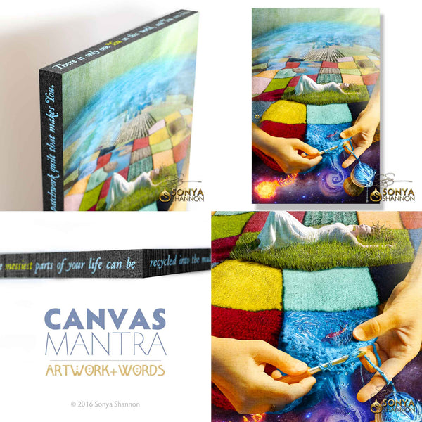 Patchwork Earth - CANVAS