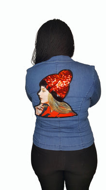 Denim Blazer Sequin - GlogeStore