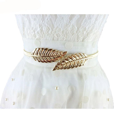 Leaves Stretchy Metal Waist Belt - GlogeStore