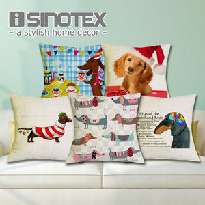 Festive Dachshund Pillow Cases