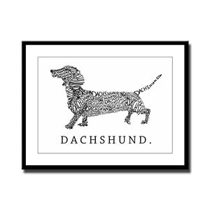 Canvas Dachshund Wall Picture