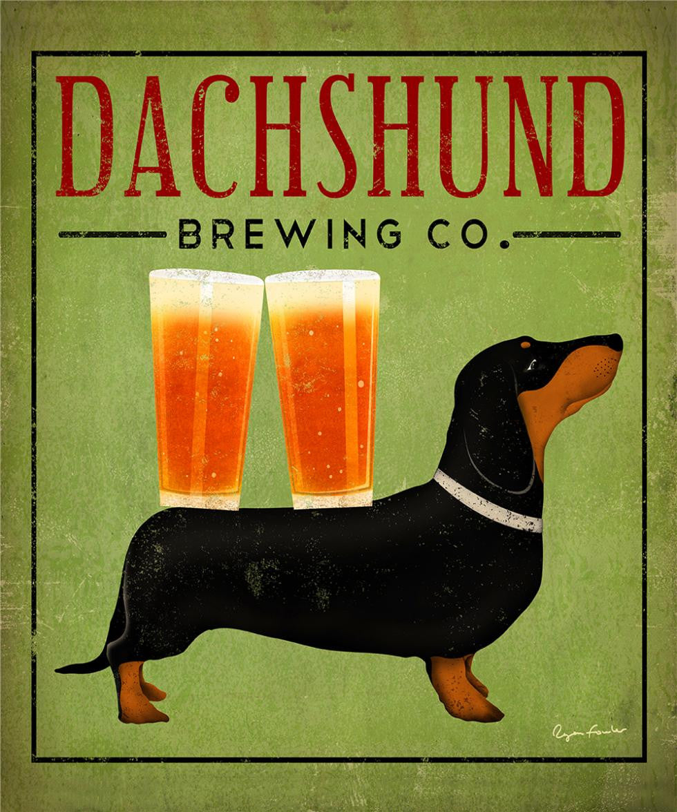 Dachshund Brewing Co. Canvas Poster
