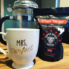 Attack The Day Coffee Mug and Cafetiere