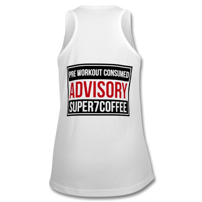 Tank Top with Pre Workout Warning