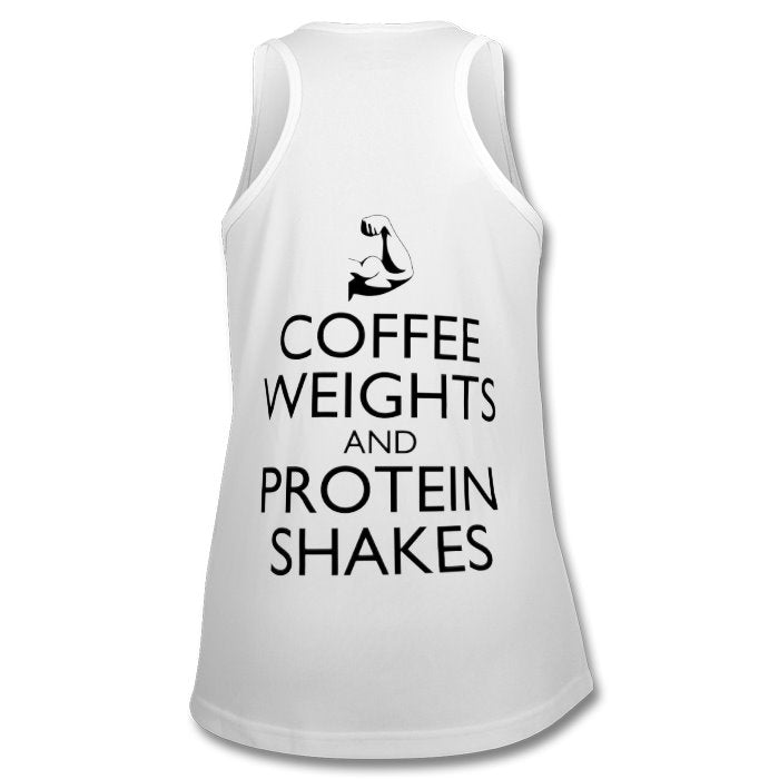 S7C - CoffeeProteinShakes - Womens Sports Tank Top