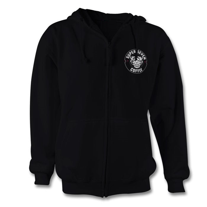 Black hoodie with Super7coffee Logo