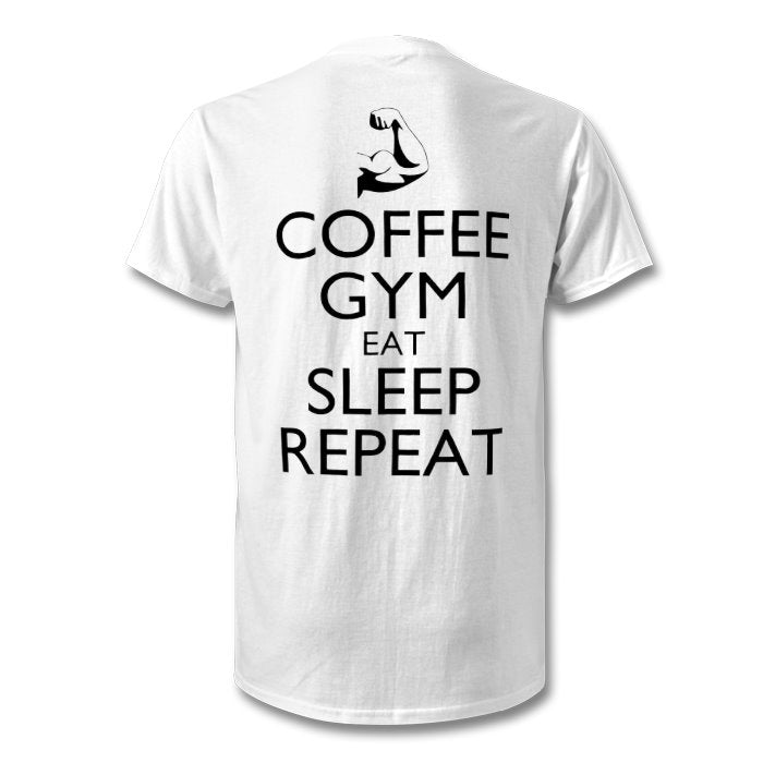S7C - Mens Gym Tee - Coffee Gym Eat Sleep Repeat