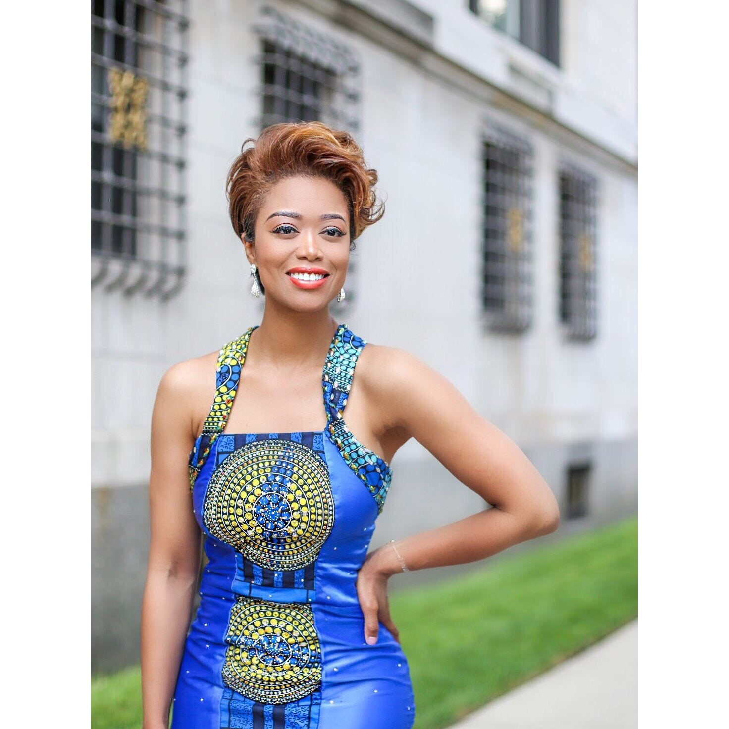 Blue Formal Ankara Gown